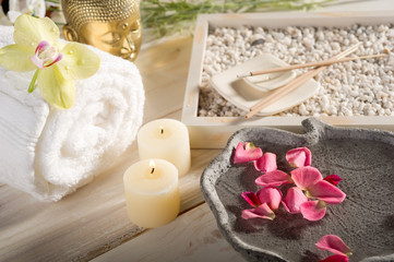 aromatherapy and spa concept-aromaterapia e spa