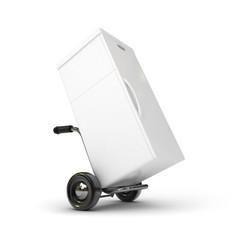 3d barrow truck and fridge