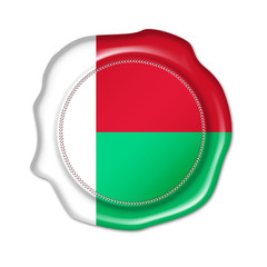 madagascar button, seal, stamp, blank flag