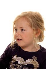 Portrait eines Mädchens. Kinderkopf.