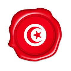 tunisia button, seal, stamp, blank flag