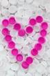 Recyclage coeur... la vie en rose