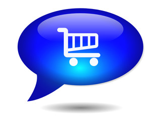 CART Speech Bubble Icon (web button shopping order online basket