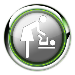 "Futuristic Button ""Baby Change"""