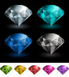 Vector gemstones collection