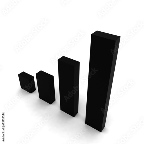 3D graphic bars black