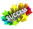 Success - Word Surrounded by Colorful Stars