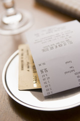 Paying Restaurant Bill With A Credit Card