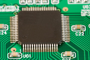 Microprocessor on Computer Circuit Board