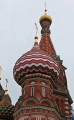 Cupola of St. Basil's Cathedral in Red Square, Moscow, Russia