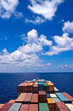Fototapety container cargo ship move to the sea