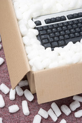 A Package Containing A Computer Keyboard