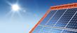 Solar roof panorama sun flare