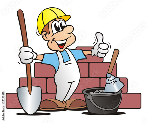 Bauarbeiter bei der arbeit comic  GamesAgeddon - Bricklayer Wall - Lizenzfreie Fotos, Vektoren und ...