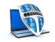 laptop and shield antivirus
