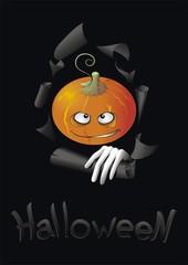Halloween pumpkin black
