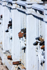 Фрагмент моста с замками, Архангельск