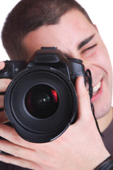 Portrait of male photographer