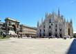Leinwanddruck Bild - Milano, piazza Duomo