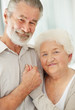 Smiling mature couple looking happy together