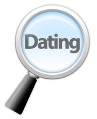 "Magnifying Glass Icon ""Dating"""