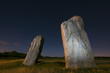 Avebury stones in Wilshire by night
