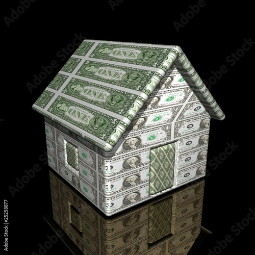 The small one-storeyed dollar house, 3d, on a smooth surface.