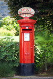 Traditional British Postbox poster