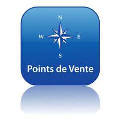 Bouton Web POINTS DE VENTE (localisation accès directions gps)
