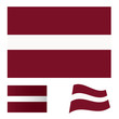 Latvia flag set