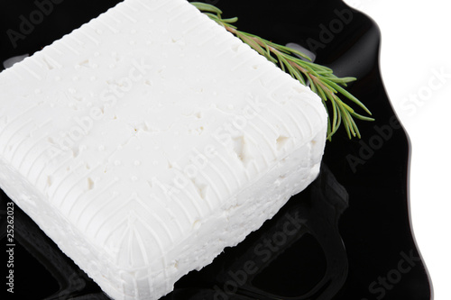 soft cheese and rosemary