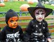 enfants déguisés et maquillés pour halloween