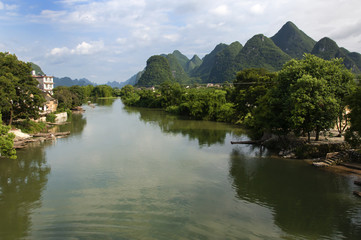 Yulong River valley in Yanghuo, China