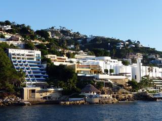 buildings hotels baie acapulco Mexique