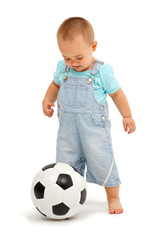 Little boy with football ball