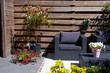 design garden furniture in a modern garden