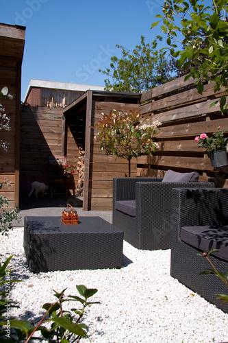design furniture in the garden