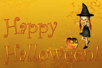 Happy Halloween card or background