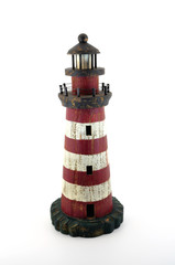 lighthouse wooden painted