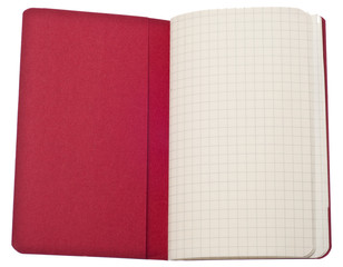 Red Journal with Graph Square Page and Pocket