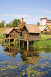 Leinwanddruck Bild - wooden sauna