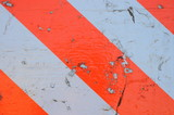 Traffic Congestion Image Of Orange and White Stop Sign poster