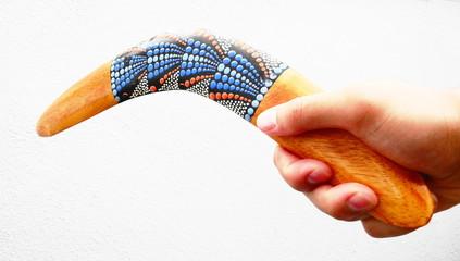 Bomerang toss