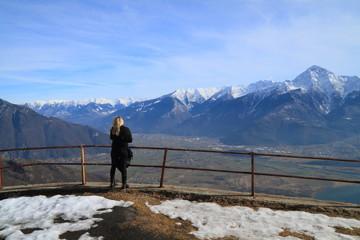 Panorama sulla Valtellina
