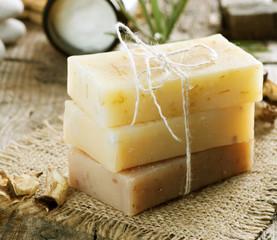 Handmade Soap border.Spa products