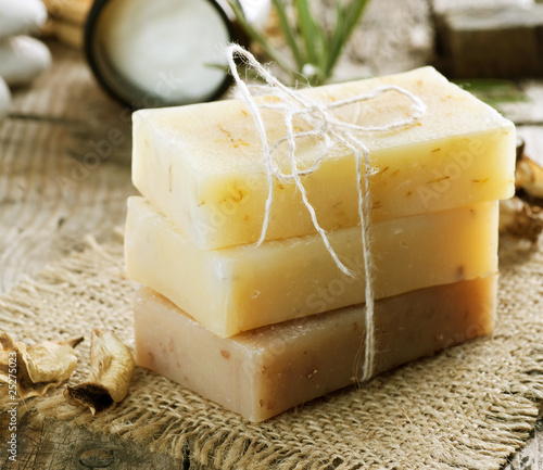 Handmade Soap border.Spa products