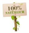 100 % naürlich german language natural green sign