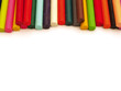 Layer of colour crayons - good for footer or header
