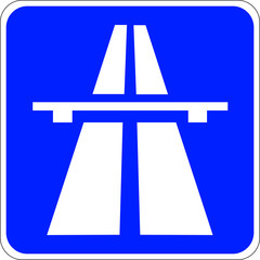 Schild Autobahn