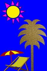 Club de vacances     Soleil - Palmier - Détente